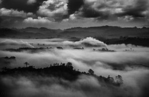 Clouds over mountains by ehabm