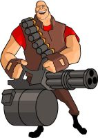 TF2 Heavy weapons Guy by dczanik