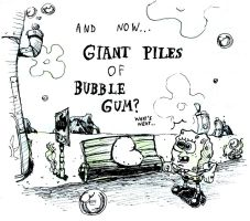 Giant Piles of Bubble Gum by RedBlupi