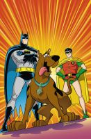 Batman and Robin meets Scooby Doo! cover issue # 1 by DarioBrizuelaArtwork