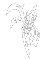 Deoxys- Ultima form Line art by xXlSalimuslXx