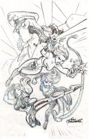 Danger Girl Pin up_pencils by tombancroft