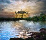 Fantasy Castle BG Stock by irinama