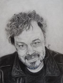 Pencil and Ink Curtis Armstrong - Metatron by EnderBerlyn
