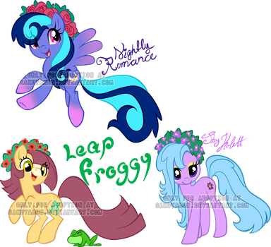 Flower crown Pony adoptable1 by Sakuyamon