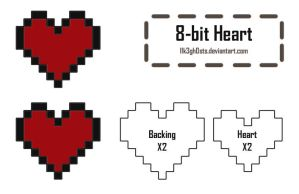 Pattern: 8-bit Heart by l1k3gh0sts