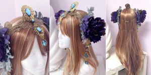 Art Nouveau Fantasy Headdress by Lillyxandra