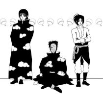 Lineart - Uchiha Clan by ElrithRydrine
