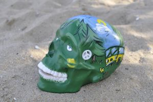 Meet Mr. Nice Guy! Handcrafted skull by Shmolly! by CandyCherep