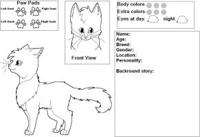 Cat REF base: Male by Sahirathedragoness