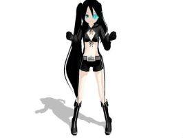 Black Rock shooter Lat MMD by Yokoso-Meko