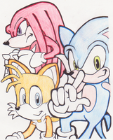 Team Sonic by SwiftArt-Star