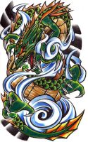 traditional dragon by haink