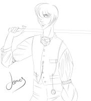 James ::lineart:: by theblacklotus92