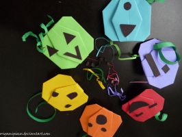 Origami pumpkins by OrigamiPieces