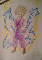 -Request- Son Gohan SSJ2 -Seinen manga version- by Renow54
