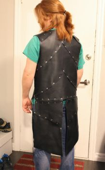 Soft Black Leather Armour - Back by SerenFey