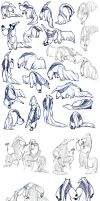 lots and lots of anteaters! by Ununununium