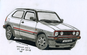 MKII Golf for my colleage by BlackLeatheredOokami