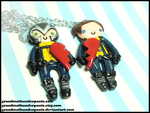 First Class Xavier/Magneto BFF Set by GrandmaThunderpants