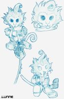 Chibi Wukong by Silver-Lunne