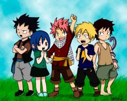 Dragon Slayers Childrens by TifaneCleia