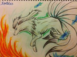 Ninetales by WildBlackWolf23