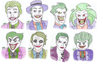 The Joker's Many Faces by DelightfullyQuirky