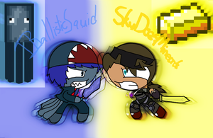 IBallisticSquid vs SkyDoesMinecraft by Relin2003