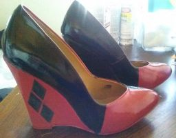 Harley Quinn Cosplay wedges by CharleneRenegade