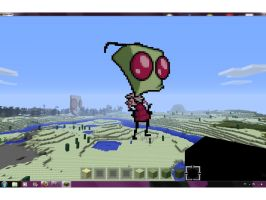 Zim in Minecraft by MoonprincessofDoom