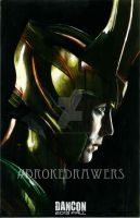 Loki Charcoal Drawing / Acrylic Painting by Broke-Drawers