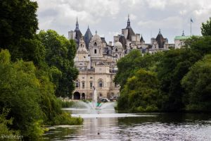 Whitehall from St. James's Park bridge by CyclicalCore