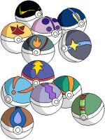 Custom Pokeballs by renahmoonsinger