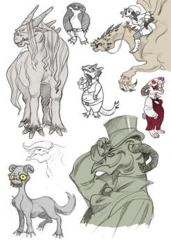 Fantasy sketches by kyla79