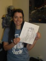 Darlene Sellers with the Quick Drawing by Poorartman