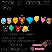 Pack 12th Animalitos Png by JhoannaEditions