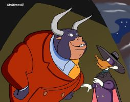 Taurus and DarkWing by MrMinos