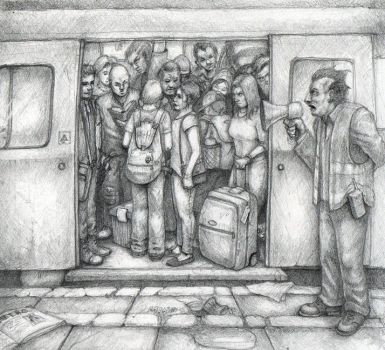 MIND THE GAP - TUBE DRAWING, London Underground by jd84