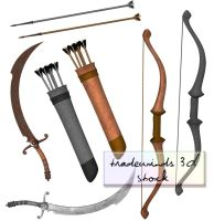 TW3D Swords and Arrows by TW3DSTOCK