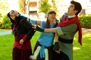 Third Wheel Korra by CheesyHipster