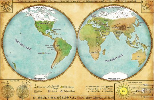World map by Sapiento