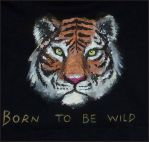 Tiger t-shirt - detail by LauraMSS