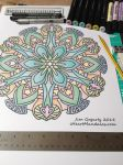 Mandala template from The Mandala Coloring Book by Mandala-Jim