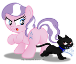 Commission:  Get back here, Dazzle! by AleximusPrime