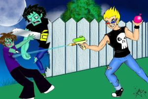 Zombies ate my neighbour by Silver-the-kid