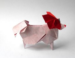 Origami papillon dog by Orestigami