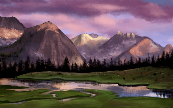 Finished - Mountains by Avatalence