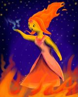 A Fire Elemental by LittleMads