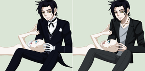 Claude Faustus and Oc :Collab: by TFAfangirl14